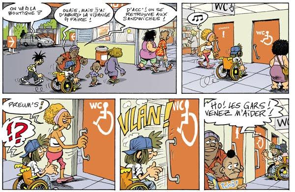 Franc falar b d la bande à ed un héros en chaise roulante