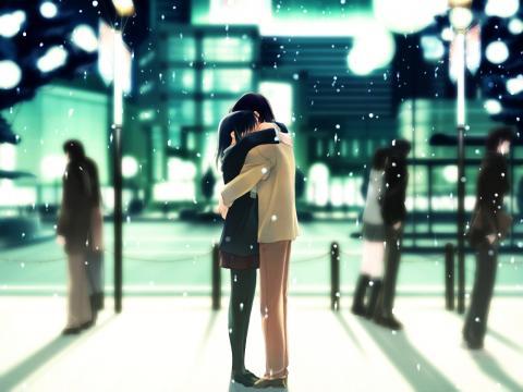 Anime Kids Hugging Hug Anime Reply