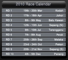 Racing Schedule