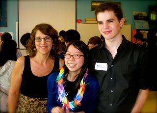 Bloggers Kim Allen (St. Luke's), Pauline Ceraulo (Trinity), and Nick Wilson (Saint Ann's)