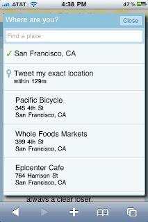 Twitter Location mit Foursquare und Gowalla