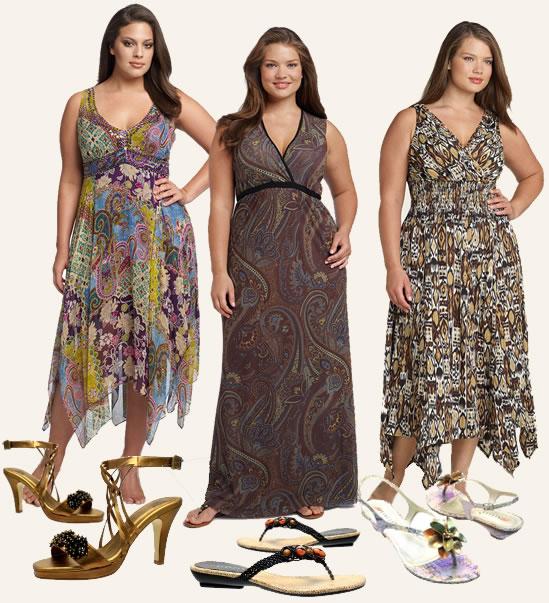 Vestidos Plus Size de festa - estampados longos 2