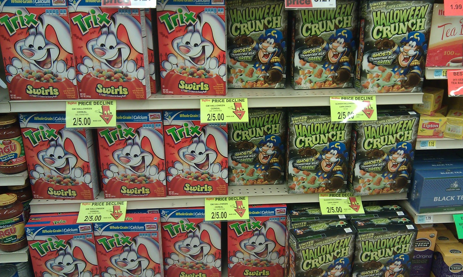 park ave hy vee has lucky charms trix halloween crunch and honey nut cheerios 25 101910 102510 it works out to 1 overage need to get a 1 - Captain Crunch Halloween