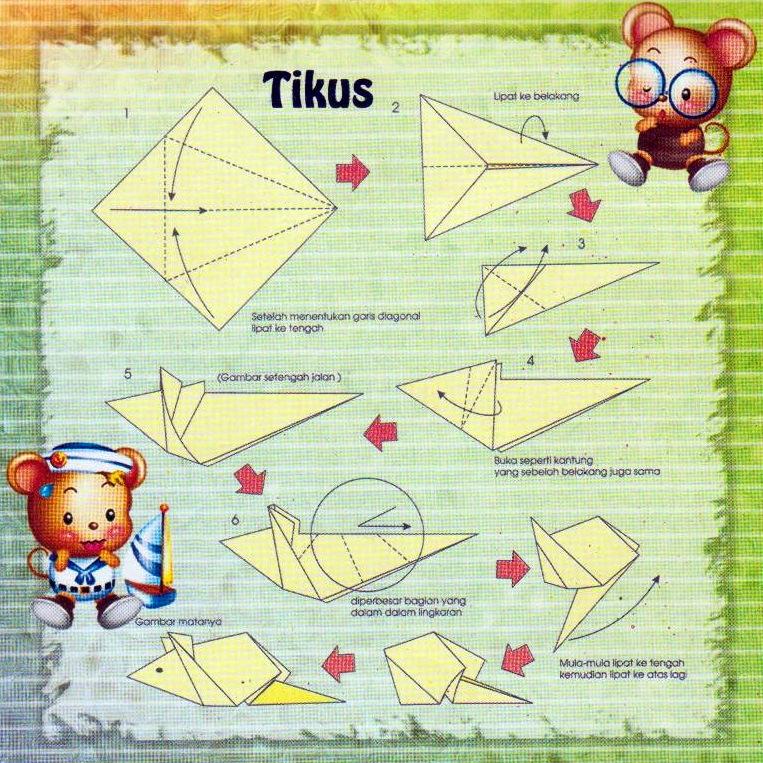tutorial origami tikus