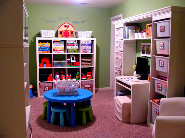 Planning a playroom expedit trofast Storage ideas for toys in living rooms