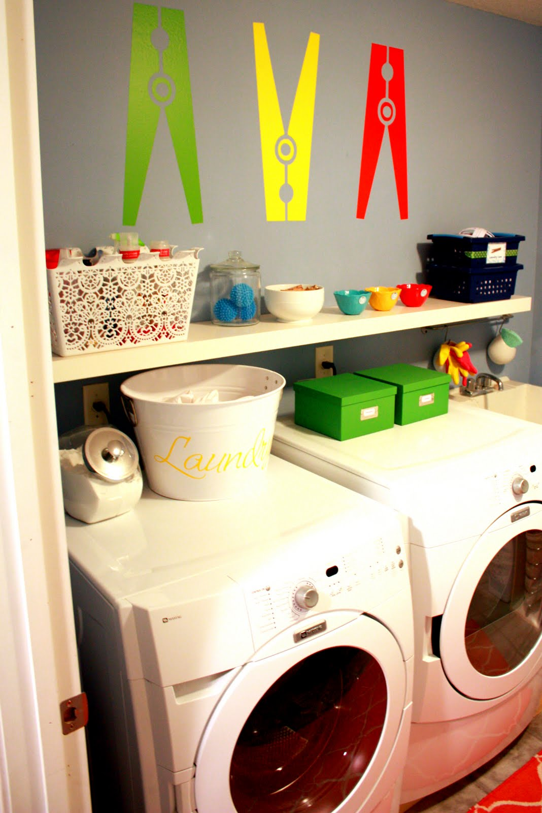 IHeart Organizing: June Featured Space: Laundry Room - Super-Decal ...