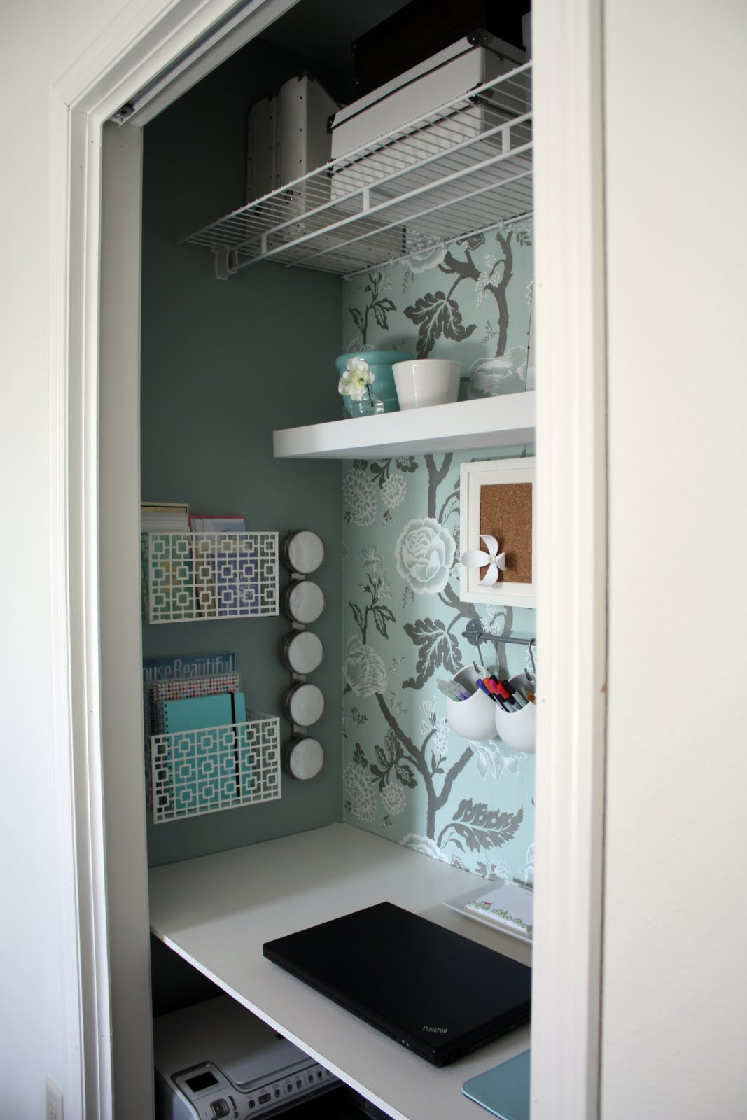 Office In A Closet. Iheart Organizing: August Featured Space: Bedroom    Conquering Closets