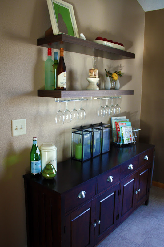 Floating Shelf Wine Glass