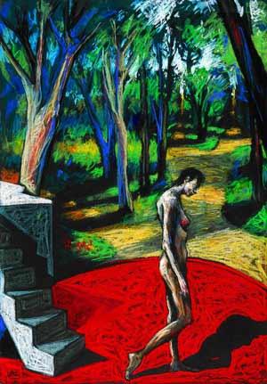 Oye borges pintando a borges for Borges el jardin