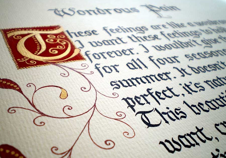 The Wedding Calligrapher Gothic Calligraphy With