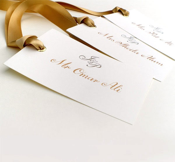 Wedding Place Card Calligraphy Gold The Wedding
