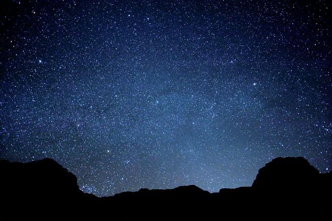 Desert At Night Stars