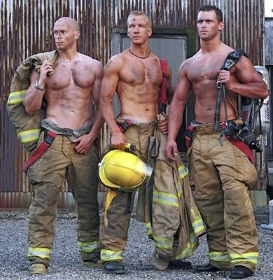 Pictures Of Firemen. It's raining men Hallejulah!