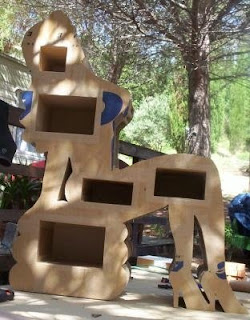Cardboard niche human body furniture