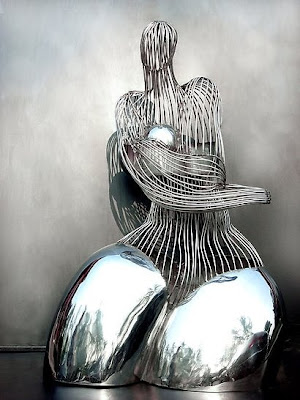 Stainless Steel Woman Sculpture