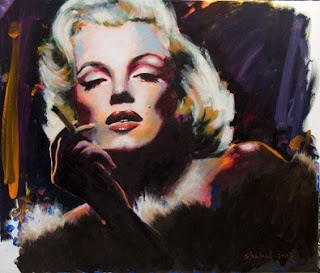 Marilyn Monroe painting by Hagit Shahal