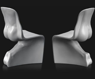 Him and Her - human body chairs
