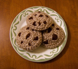 knitted chocolate chip cookies