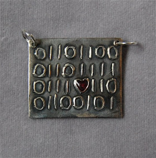 Geek Love pendant necklace