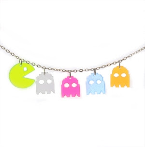 Arcade Man and 4 Ghosts Necklace