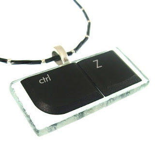 Ctrl Z pendant geek necklace