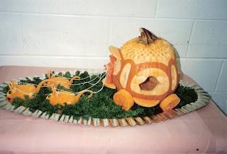 veggie art - food sculpture
