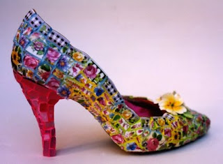 Mosaic Colorful Shoes by Candace Bahouth