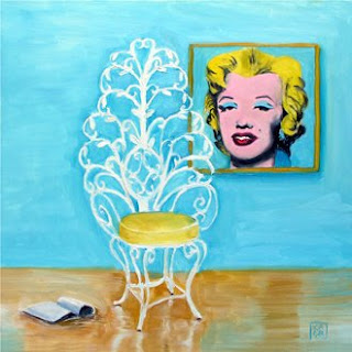 merilin monroe chair painting