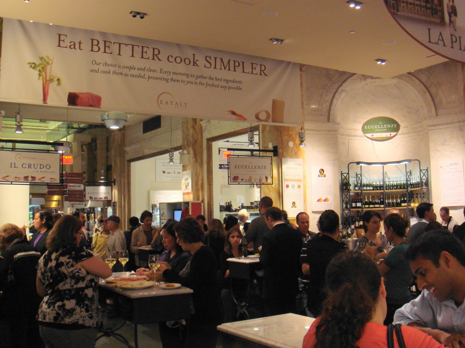Eataly--cheese and pasta stations | Chubby\'s Food Odyssey
