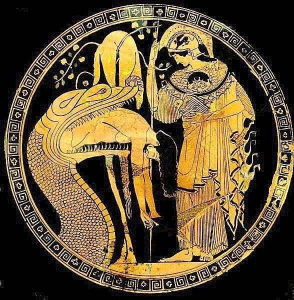 Αυτός που μπαίνει στον Δράκο μετά βγαίνει απο αυτόν ως Ιάσων. Και βγαίνει στο Δέντρο της Ζωής στον Κήπο των Εσπερίδων (Παράδεισο) για να λάβει το Χρυσόμαλλο Δέρας, Λεοντή (…Ηλιο-Ντη) και να την ενδυθεί.