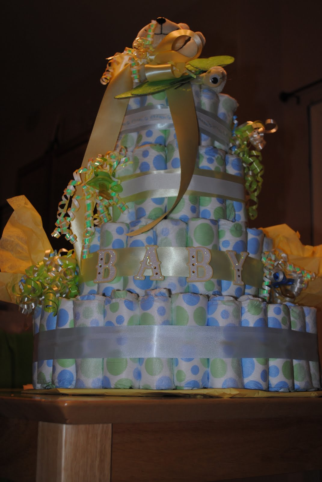 Diaper Cake Ideas For Baby Boy : dated.engaged.married and now...Mrs Ordan!: 1st Baby Boy ...