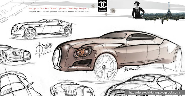 Design a car for Chanel brand