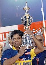 Illustrious Skipper Arjuna Ranatunge. The captain of Sri Lanka Cricket team, 1996 World Champions
