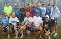 Some of the St Croix Runners, in the fog!