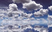 wallpapers nuvens sobre a agua