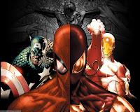 papel de parede homem aranha vs homem de ferro e capitão américa