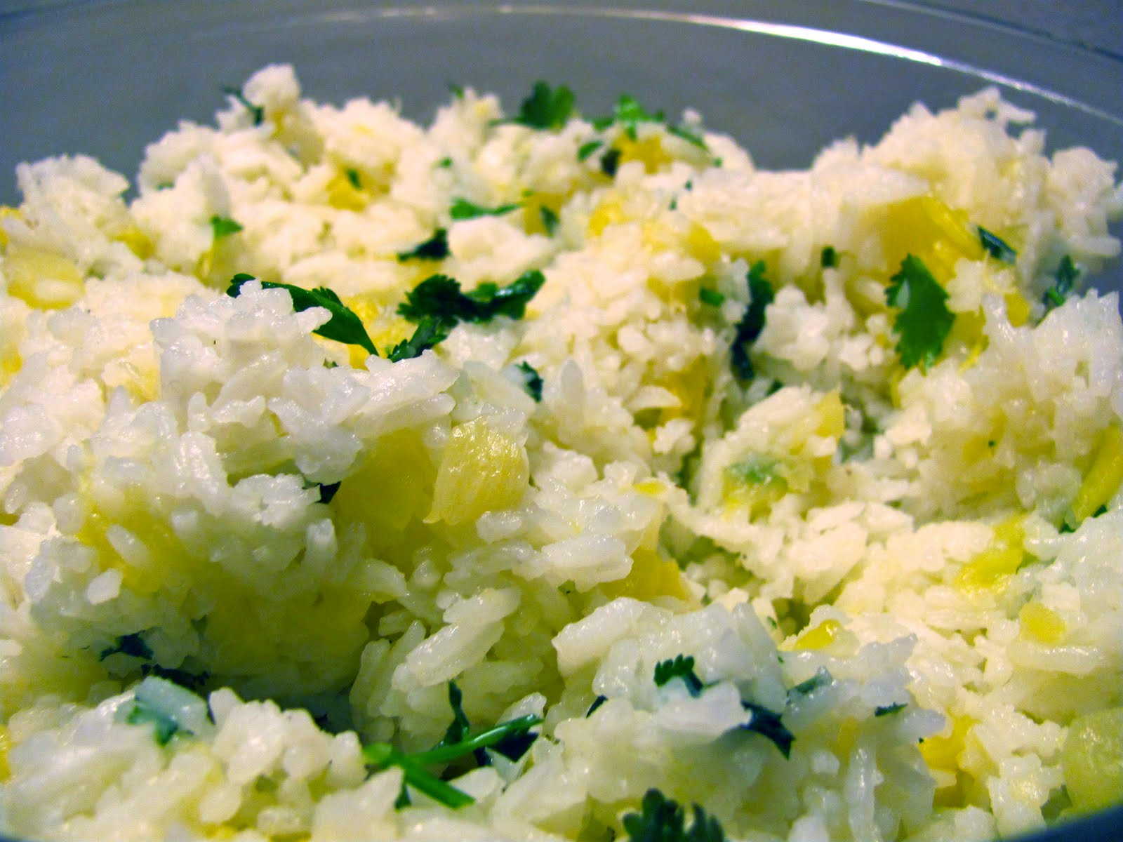 The Double Dipped Life: Pineapple Cilantro Rice