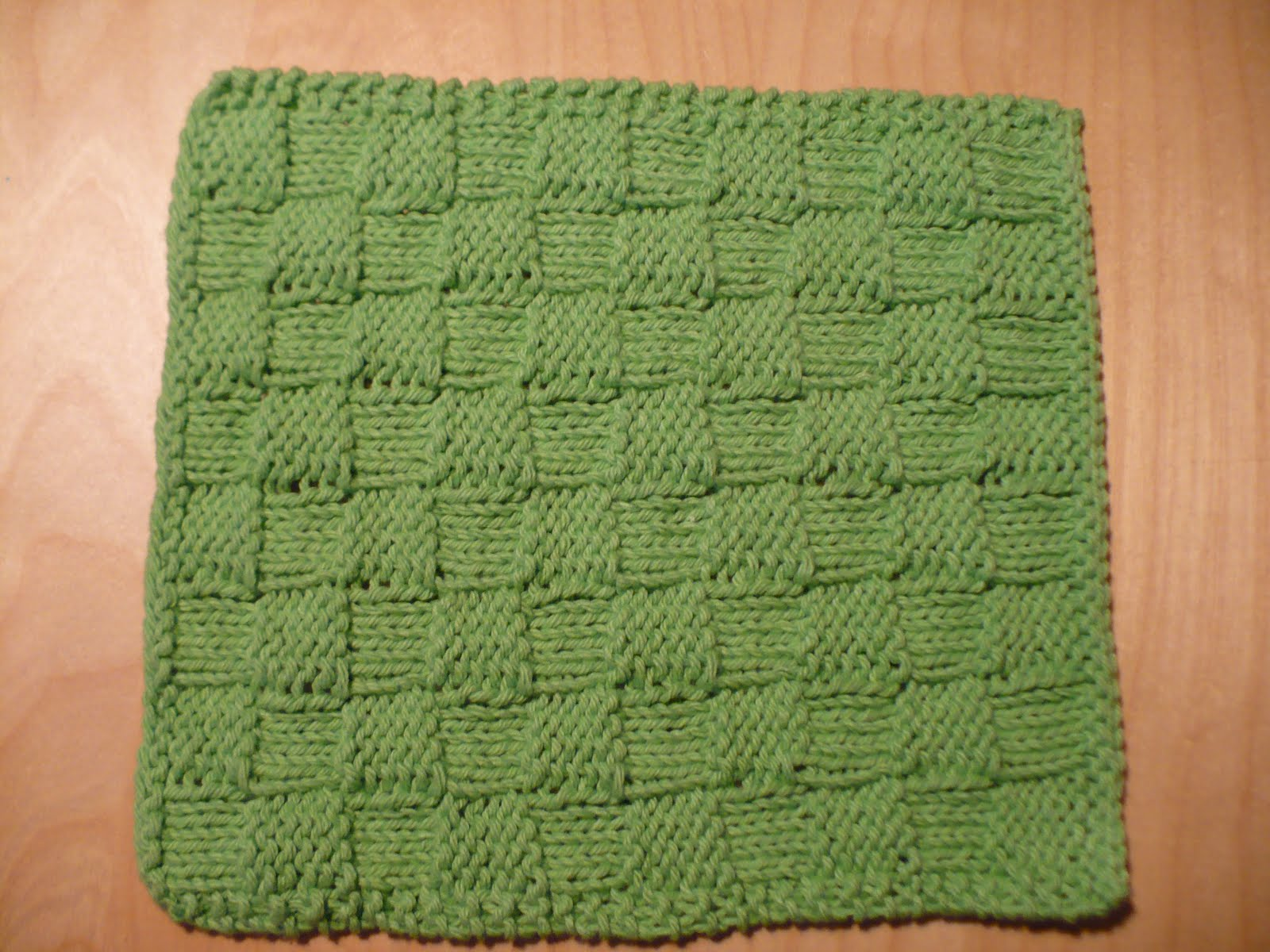 Girl Gone Granola: Knitting Project: Checkerboard Dishcloth