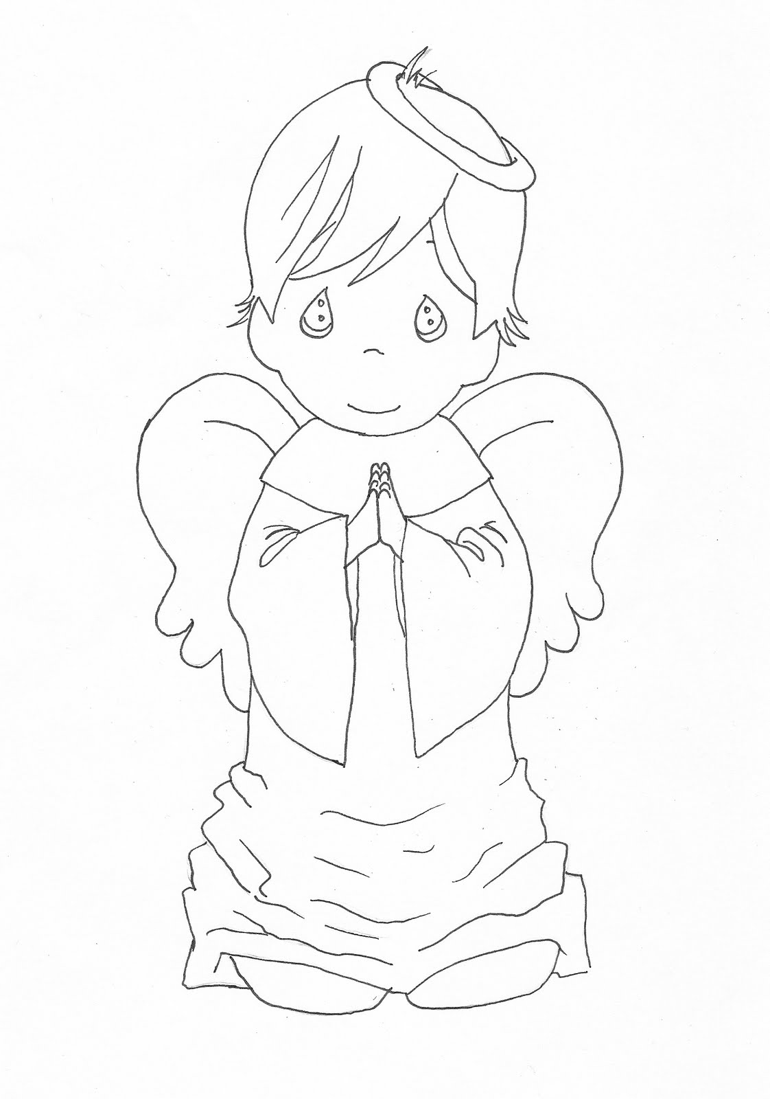 baby boy angel coloring pages - photo #47