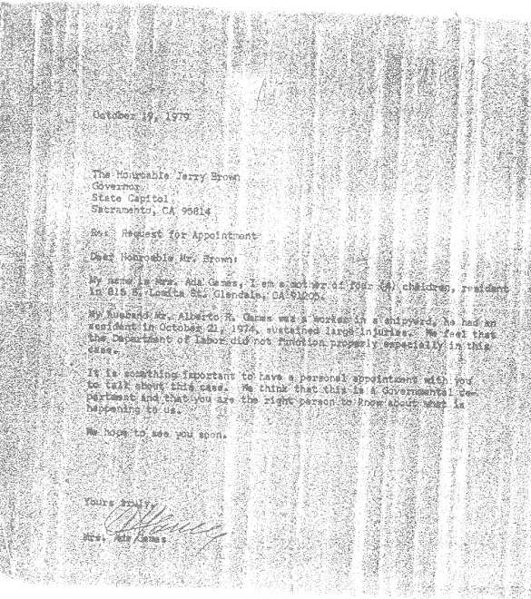 AUGUST 19, 1979 LETTER FROM ADDA GAMES