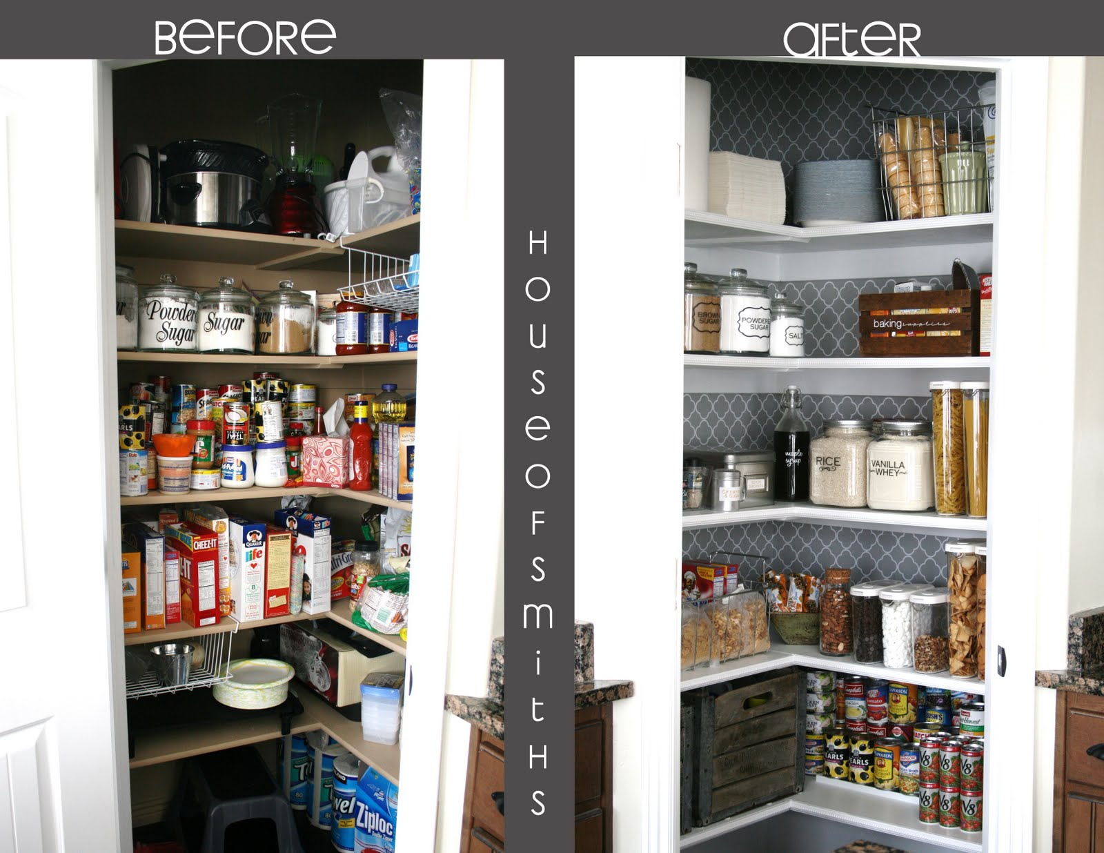 Mundane entertainment decorating the dressy pantry for Organization ideas for kitchen pantry