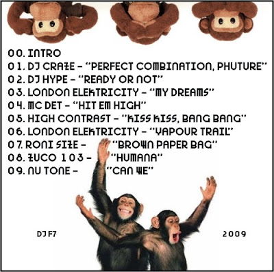 dj f7 monkey mix drum n bass trackz back cover