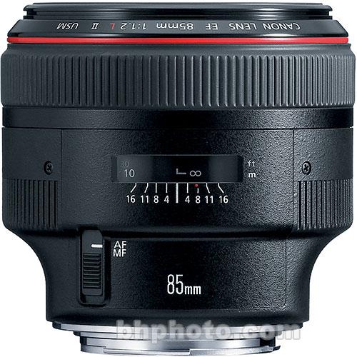 canon 85mm F/1.2L II prime lens