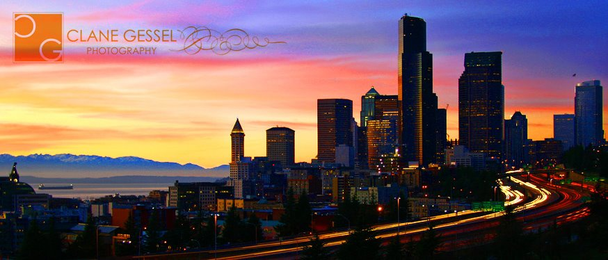 Downtown seattle cityscape from 12th avenue time lapse tullys columbia center elliot bay olympic cascades national park