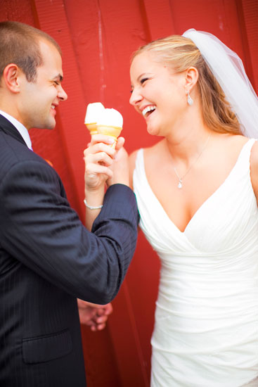 Mcdonalds ice cream cone wedding