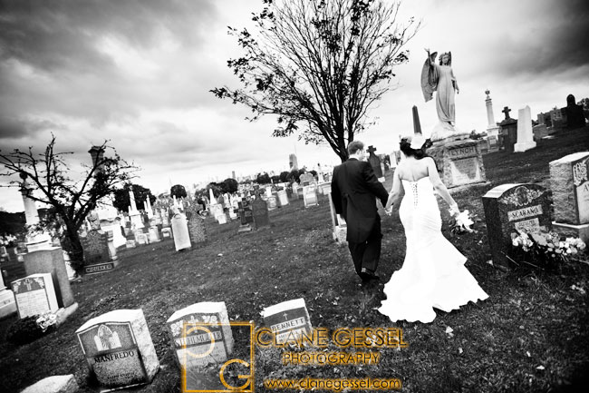 Calvary cemetery wedding photography, Calvary cemetery in new york city