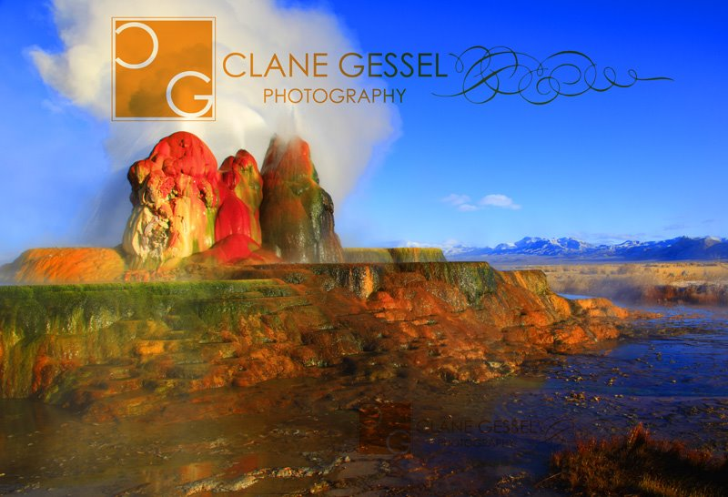 Fly Geyser in The Nevada black rock desert