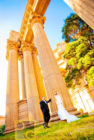 Exploratorium museum and palace of fine arts wedding in san francisco