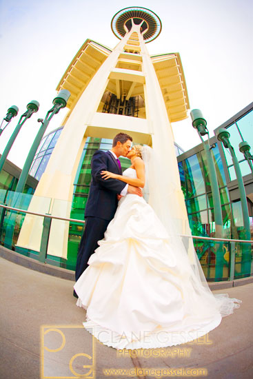 the space needle wedding photography, top seattle wedding photographers