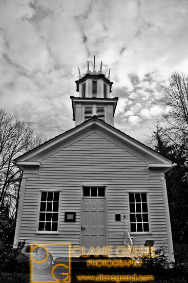oldest building in Washington state that is still standing- the Claquato Church near Chehalis, WA